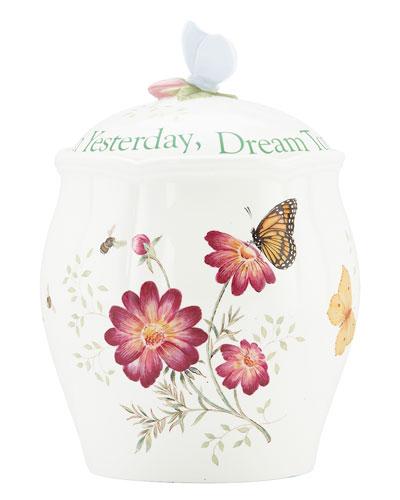 Butterfly Meadow Sentiment Cookie Jar