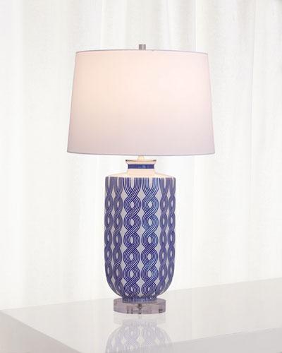 Evelyn Blue Lamp