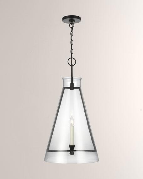 C&M by Chapman and Myers Keystone Aged Iron 1-Light Pendant