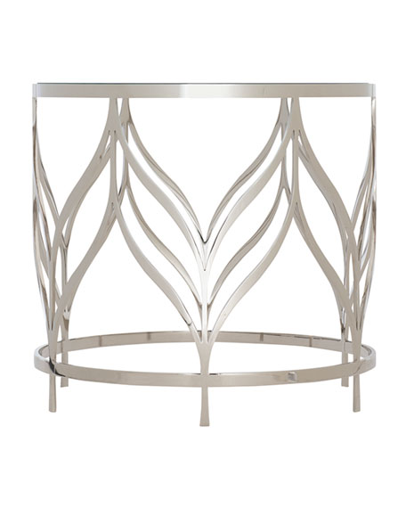 Image 2 of 2: Bernhardt Calista Metal Swirl End Table
