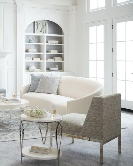 """Bernhardt Lumen Winter White Sofa, 98"""""""