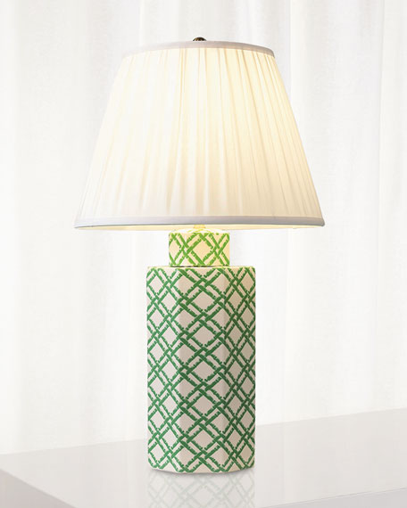 Port 68 Bamboo Trellis Hex Table Lamp