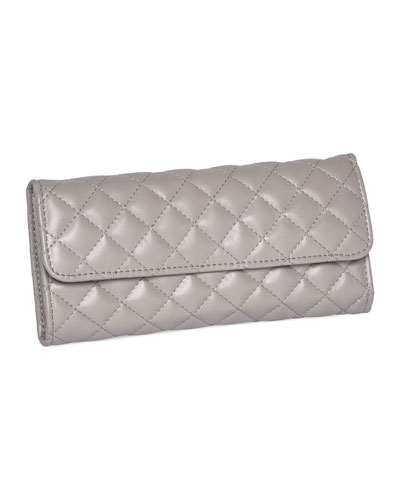 Men's Leo Quilted Travel Jewelry Clutch