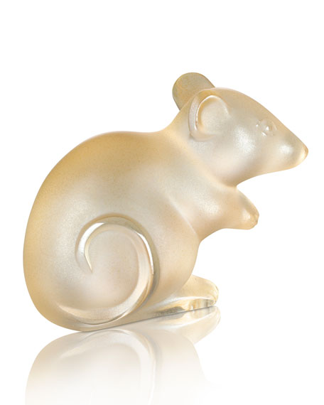 Lalique Gold Luster Mouse Figurine