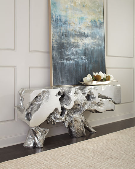 The Phillips Collection Freeform Console Table, Silver
