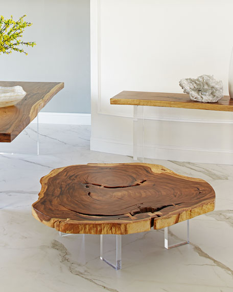 The Phillips Collection Floating Chamcha Wood Console Table