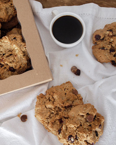 Naturally Gluten Free Cranberry Chocolate Cookies