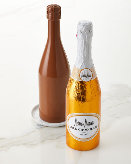 Simon Coll Milk Chocolate Champagne Bottle, 300g