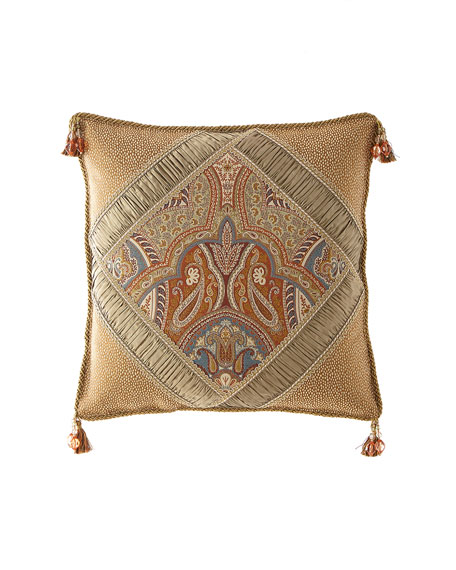 Dian Austin Couture Home Sandoa Pieced Boutique Pillow with Tassels