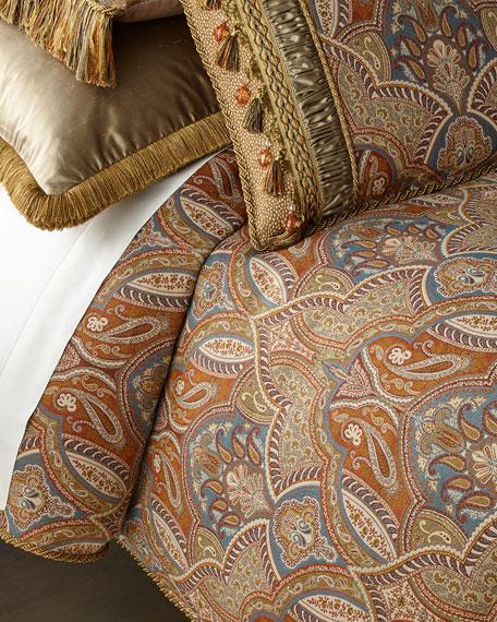 Dian Austin Couture Home Sandoa King Duvet with Tassels