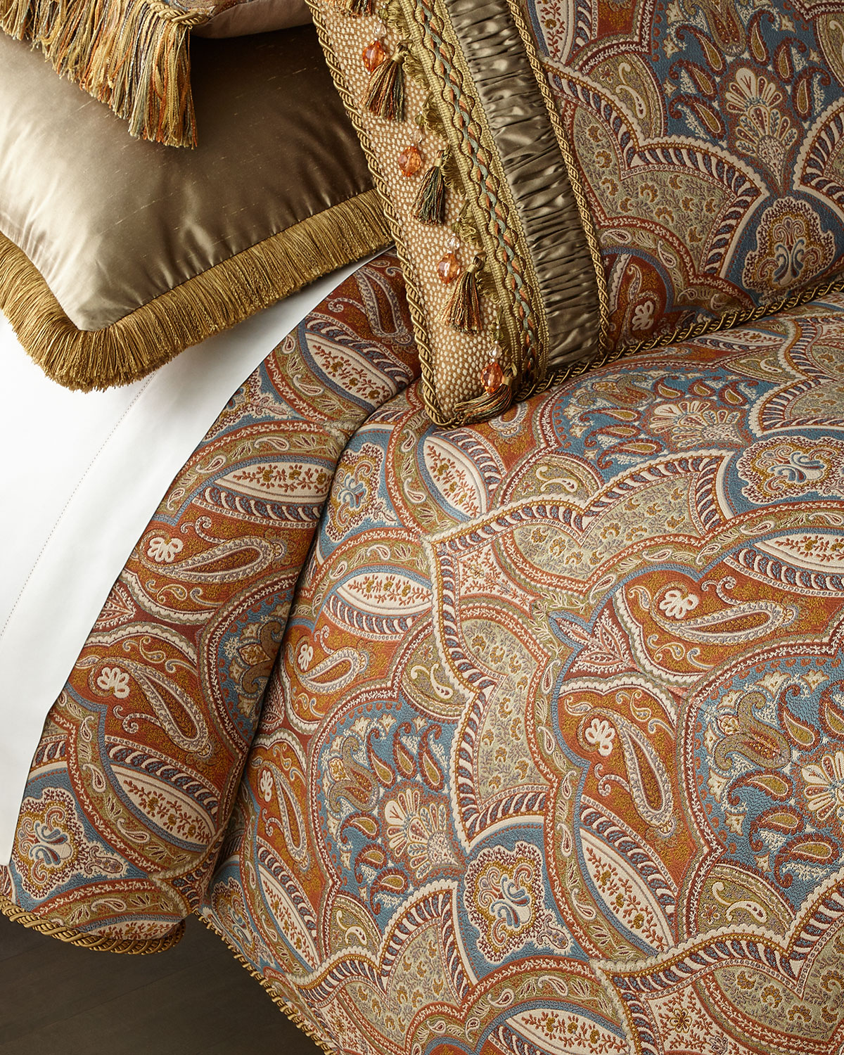 Dian Austin Couture Home Sandoa King Duvet with Tassels
