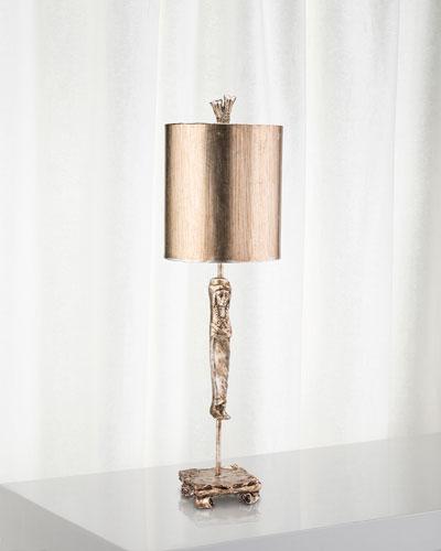 Caryatid Silver Table Lamp