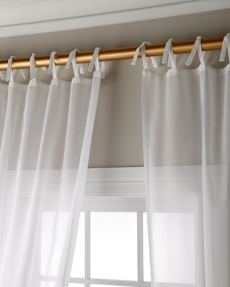 "Sweet Dreams Carolina Sheer Tie Top Curtain Panel, 108"""