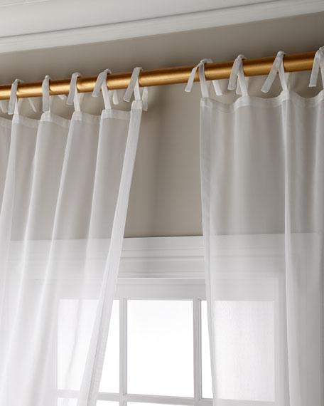 "Sweet Dreams Carolina Sheer Tie Top Curtain Panel, 96"""