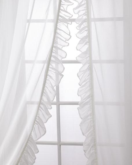"""Sweet Dreams Carolina Sheer Ruffle Curtain Set, 96"""""""