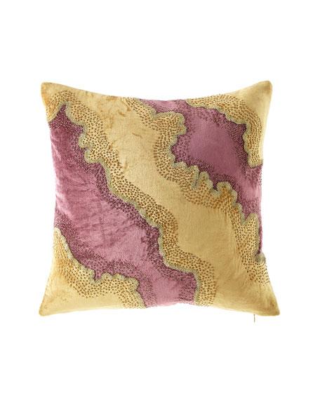 Design Source Velvet Beaded Pillow