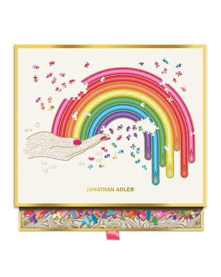 Hachette Book Group Jonathan Adler Rainbow Hand Shaped Puzzle