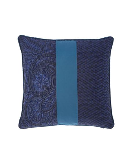 "Etro Pieced Decorative Pillow, 18""Sq."