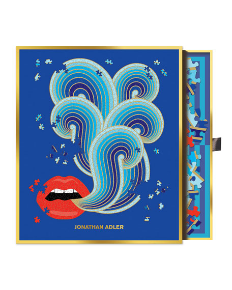 Hachette Book Group Jonathan Adler Lips Shaped Puzzle