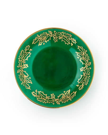 Exclusive Hand Painted Holiday Dessert Plates, Set of 4