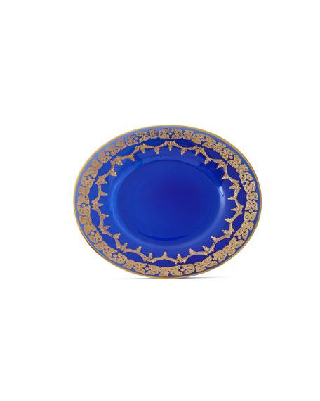 Exclusive Blue Oro Bello Dessert Plates, Set of 4