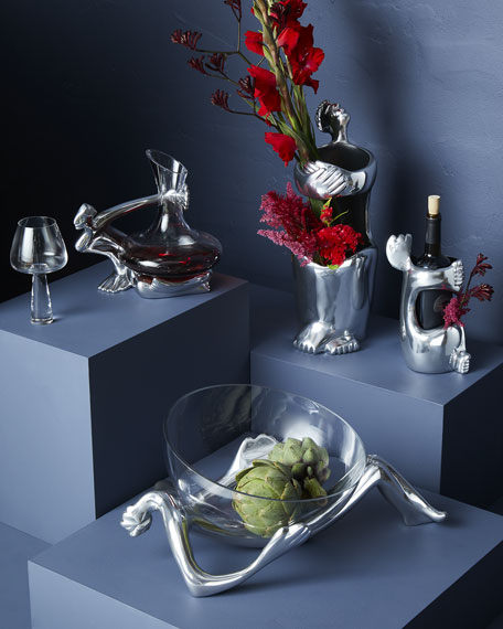 Carrol Boyes Glass Platter and Stand