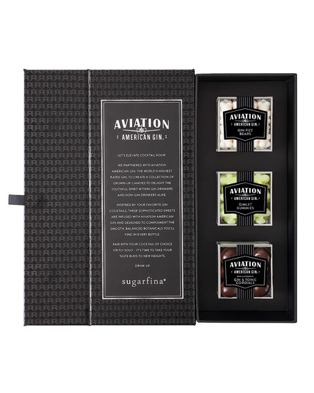 Image 2 of 3: Sugarfina Aviation Gin 3-Piece Candy Bento Box