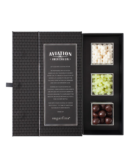 Image 3 of 3: Sugarfina Aviation Gin 3-Piece Candy Bento Box
