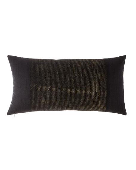 Donna Karan Home Donna Karan Collection Metallic Embroidery Decorative Pillow