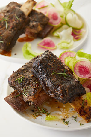 Alewel's Country Meats Short Ribs with Red Wine Drizzle