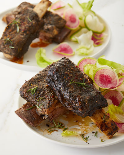 Short Ribs with Red Wine Drizzle