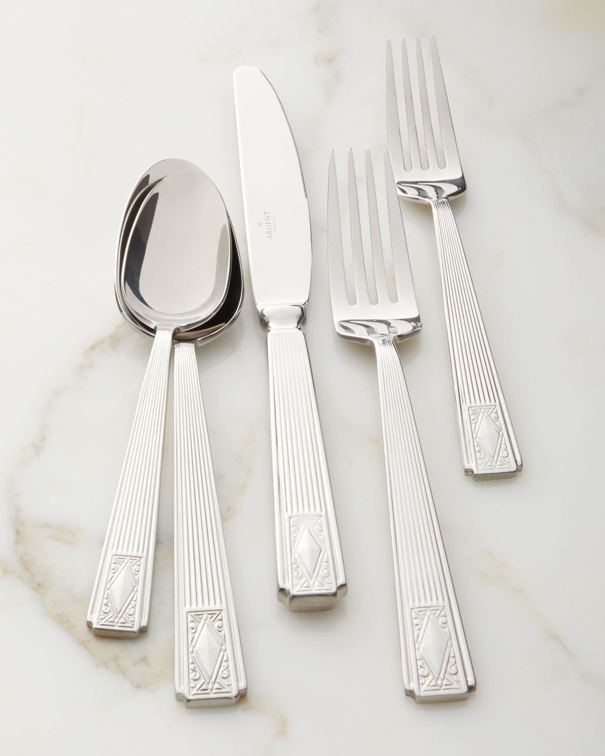 Hampton Forge 20-Piece Cabriole Flatware Set