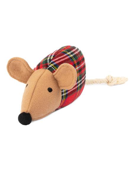 Harry Barker Plaid Mouse Plush Dog Toy