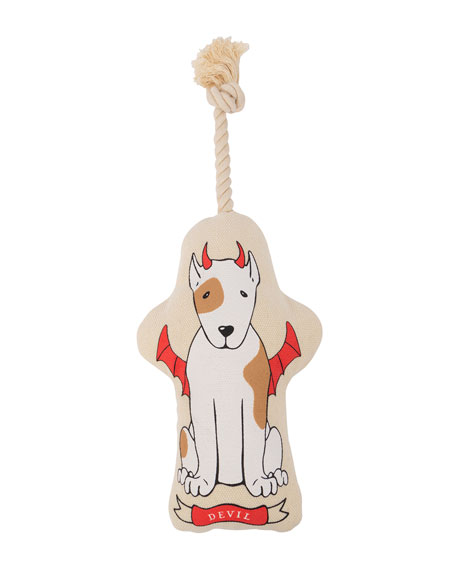 Harry Barker Naughty/Nice Canvas Small Dog Toy