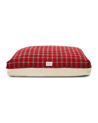 Plaid Sherpa Small Dog Bed