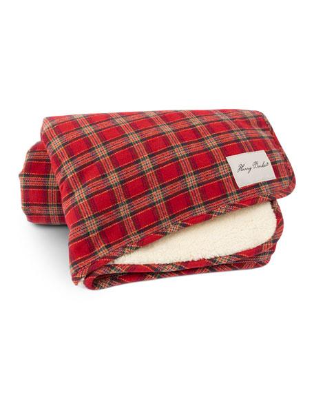Harry Barker Plaid Sherpa Dog Blanket