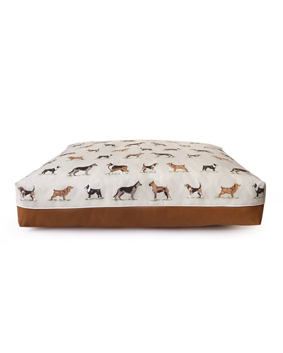 Cross Stitch Rectangular Large Dog Bed