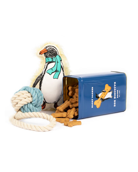 Harry Barker Penguin Dog Gift Basket