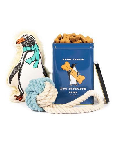 Penguin Dog Gift Basket