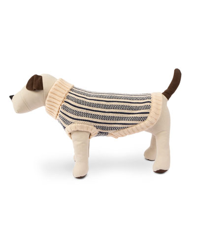 Cabin Stripe Knit Dog Sweater  Medium