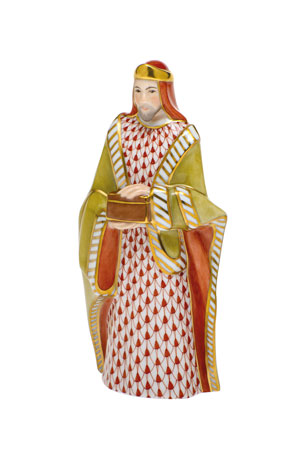Herend Wise Man Melchior Nativity Figurine