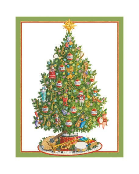 Caspari Music Tree Holiday Cards