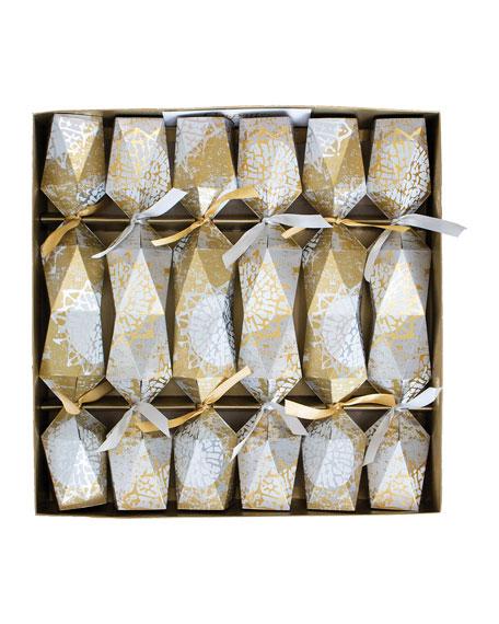 Caspari Block Print Stars Crackers