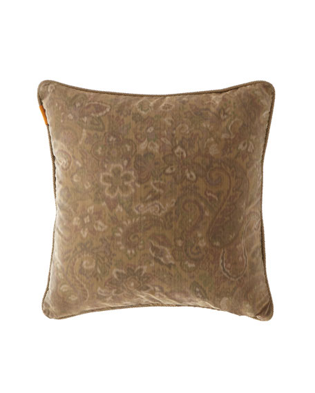"Etro Damask Velvet Pillow, 18""Sq."