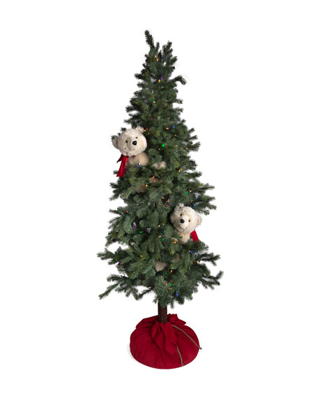 Ditz Designs By The Hen House Christmas Polar Bear Frolic Tree, 72""