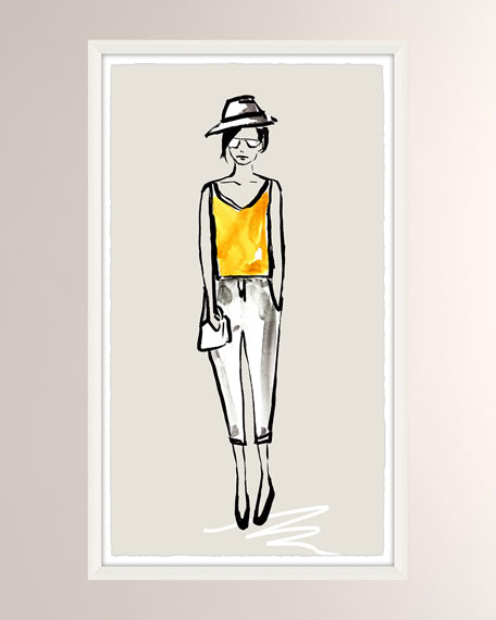 OOTD Casual IV Giclee On Paper Wall Art With Frame