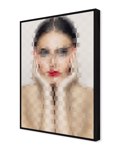 Pixelism View Giclee On Canvas Wall Art With Frame