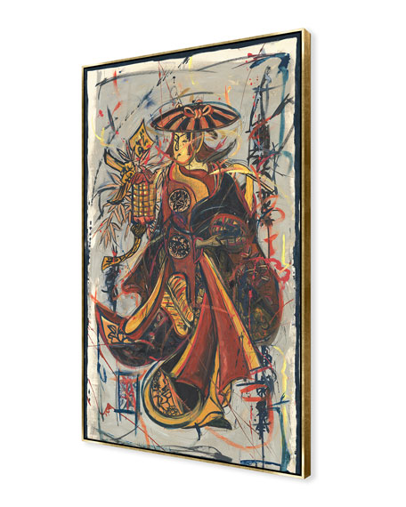 Lantern Maiden Giclee On Canvas Wall Art With Frame