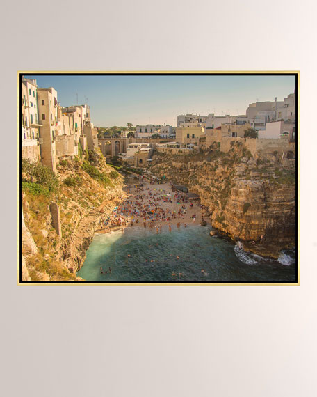 Polignano A Mare Giclee On Canvas Wall Art With Frame
