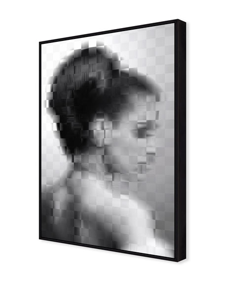 Image 2 of 2: Pixelism Portrait Giclee On Canvas Wall Art With Frame